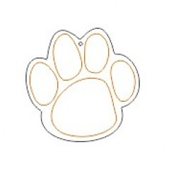 10cm Acrylic Etched Dog Paw Shape  (3mm thickness) (Pack of 10)