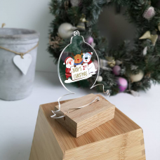 Printed Acrylic Baby's First Christmas Bauble Christmas Baubles