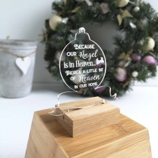Printed Acrylic Heaven clear Bauble Christmas Baubles