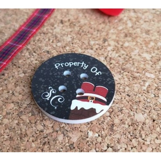 Printed Buttons (various designs) Christmas Acrylic