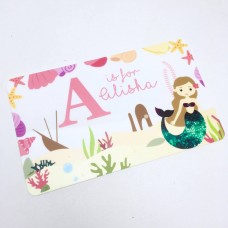 Personalised Printed Mermaid Door Plaque Personalised and Bespoke