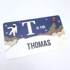 Personalised Printed Spaceman Door Plaque Personalised and Bespoke