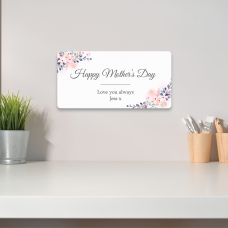 Personalised Printed Rectangle - Happy Mother's Day (blues and pinks) Personalised and Bespoke