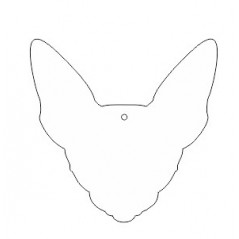10cm Acrylic Sphynx Cat Head Shape (3mm thickness) Christmas Acrylic