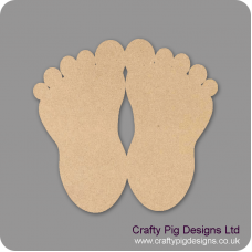 3mm MDF Baby Feet (PACK OF 5) Baby Shapes