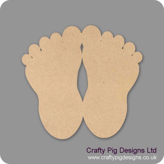 3mm MDF Baby Feet (PACK OF 5)
