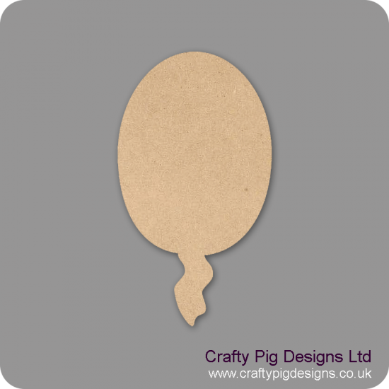 3mm MDF Balloon (pack of 10) Small MDF Embellishments