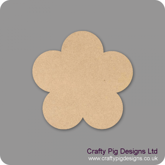 3mm MDF Basic Flower Small MDF Embellishments
