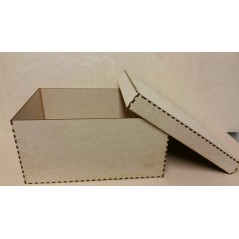 3mm MDF Large Square Box 30x30x15cm  with lid