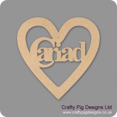 3mm MDF Cariad Heart