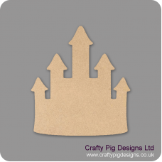 3mm MDF Princess Castle Shaped Plaque (pack of 5) Little Houses