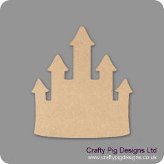 3mm MDF Princess Castle Shaped Plaque (pack of 5)