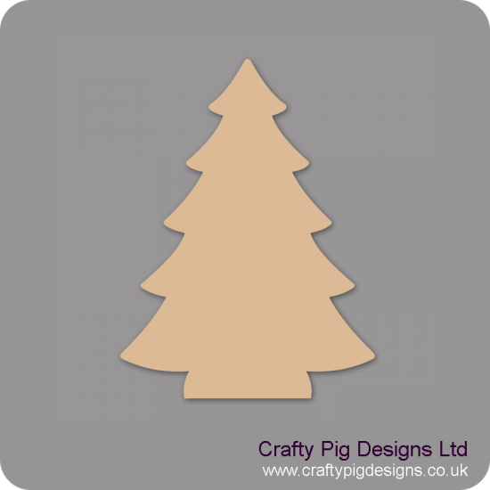 3mm MDF Christmas Tree (Pack of 5) Christmas Shapes
