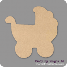 3mm MDF Chunky Pram Shape Baby Shapes