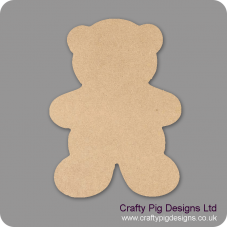 3mm MDF Chunky Teddy Shape Baby Shapes