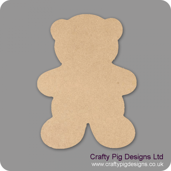 18mm Chunky Teddy Shape 18mm MDF Craft Shapes