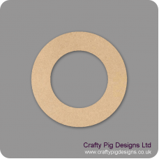 3mm MDF Circular Wreath with centre cut out Basic Plaque Shapes