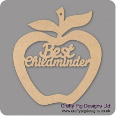 3mm MDF Best Childminder - Hanging Apple Teachers