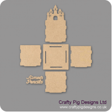 3mm MDF Fairy Castle Pencil Pot (with name)