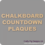 Chalkboard Countdown Plaques