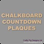 Chalkboard Countdown Plaques