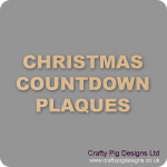 Christmas Countdown Plaques
