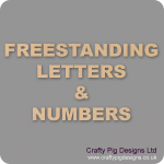 18mm MDF Letters and Numbers
