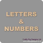 3, 4 and 6mm Letters & Numbers