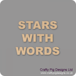 Stars With Words In