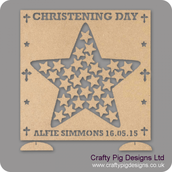 MDF Christening Drop Box (personalised with Name, Date and more)