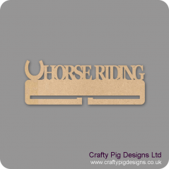 4mm MDF Horse Riding  Medal Holder