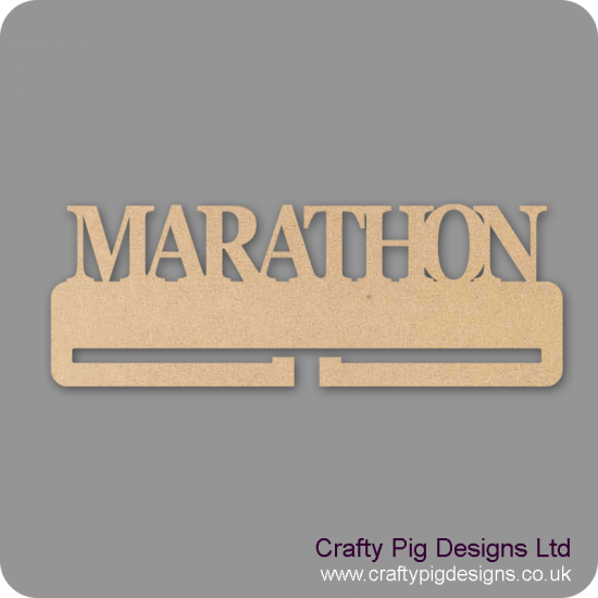 4mm MDF Marathon Medal Holder Medal Holder / Hanger
