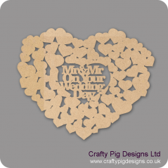3mm MDF Mr & Mrs On Your Wedding Day Guest Book