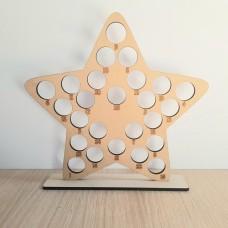 6mm Star Shape Ferrero Rocher Advent Calendar