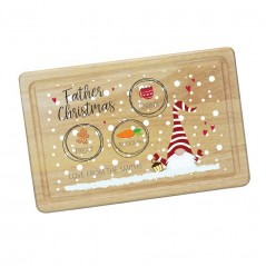 Printed Rectangular Treat Board - Gnome Printed Christmas Eve Treat Boards