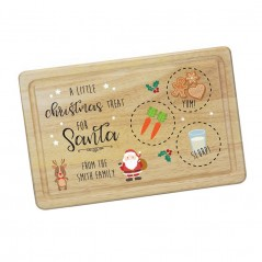 Printed Rectangular Treat Board - Santa & Rudolph Printed Christmas Eve Treat Boards