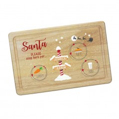 Printed Rectangular Treat Board - Santa Stop Here Printed Christmas Eve Treat Boards