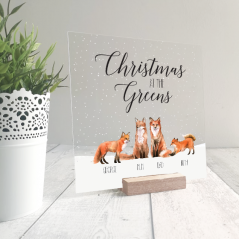 Printed Ribba Replacement Front Acrylic Christmas Scene - Foxes Personalised and Bespoke