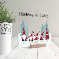 Printed IKEA Ribba or Sannahed Replacement Front Acrylic Christmas Scene - Gnomes Personalised and Bespoke