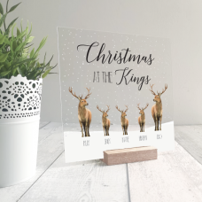 Printed IKEA Ribba or Sannahed Replacement Front Acrylic Christmas Scene - Stags Personalised and Bespoke