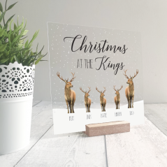 Printed Ribba Replacement Front Acrylic Christmas Scene - Stags Personalised and Bespoke