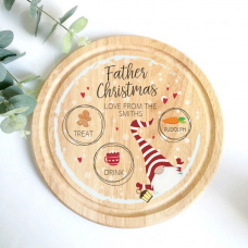 Printed Round Treat Board - Gnome Design Printed Christmas Eve Treat Boards