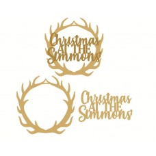 Layered Christmas at the name Antler Plaque Personalised and Bespoke