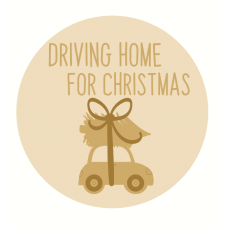 3mm mdf Layered Driving Home For Christmas Circle Halloween