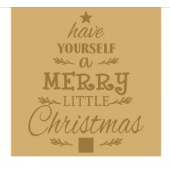 18mm Engraved Plaque- Have Yourself A Merry Little Christmas