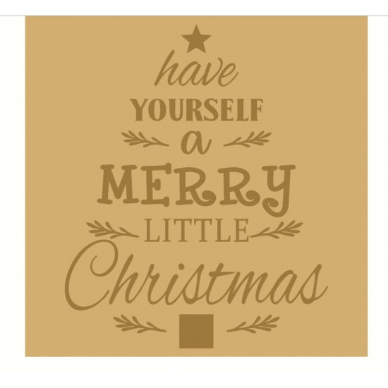 18mm Engraved Plaque- Have Yourself A Merry Little Christmas Christmas Crafting