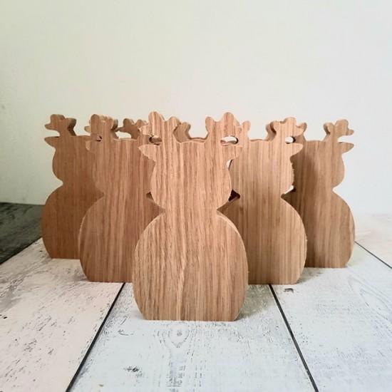 19mm Oak Veneer Reindeer  Christmas Craft Shapes