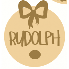 3mm mdf Layered Circle with Rudolph Nose and Bow Christmas Crafting