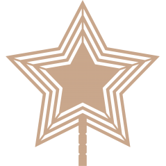 3mm mdf Star Tree Topper Christmas Crafting