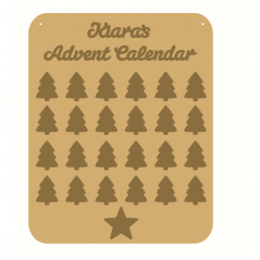 3mm MDF Personalised Christmas Tree Advent Calendar